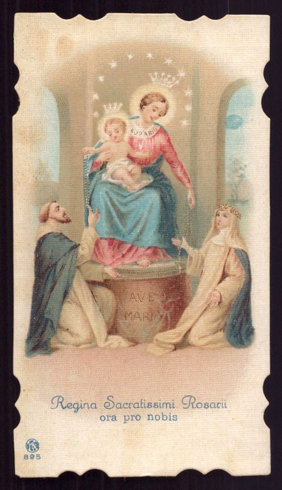 OUR LADY OF ROSARY OF POMPEII & SAINTS Old SMALL HOLY CARD    eBay