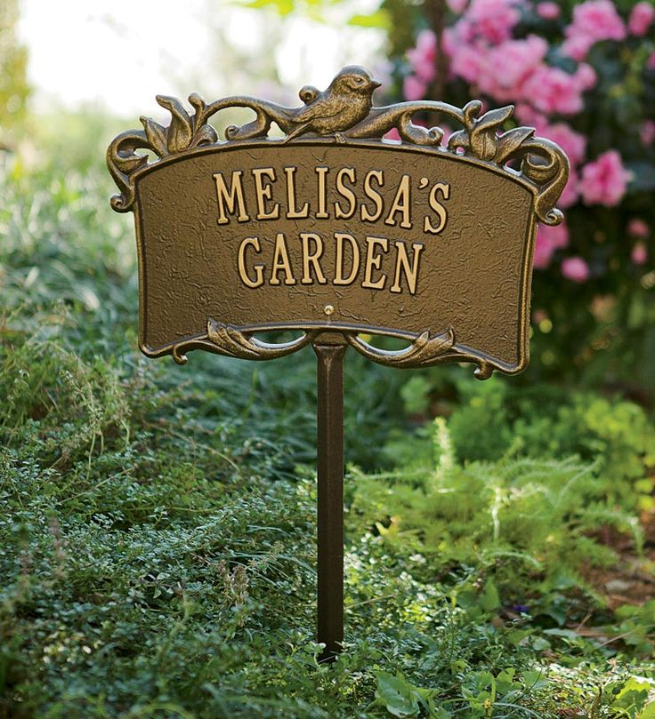 usa made personalized aluminum garden sign