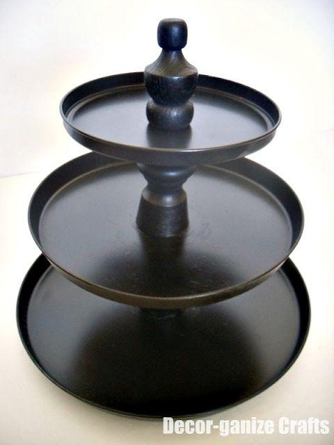 Decor-ganize Crafts: Tiered Dessert Plates -With interchangeable designs!