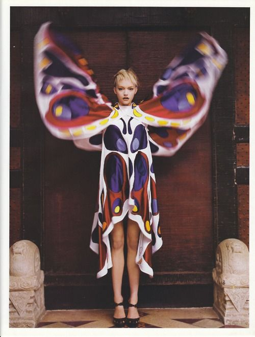 Patrick Demarchelier x Gemma Ward: Butterfly, Angels, Fashion, Butterflies, Vogue Paris, Gemmaward, October 2005, Gemma Ward, Patrick Demarchelier