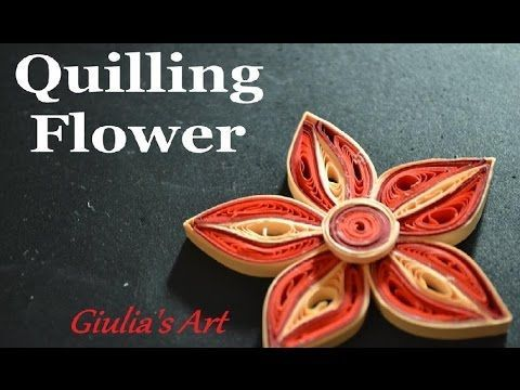 How to make a quilling flower - Tutorial 2 ( Fiori )