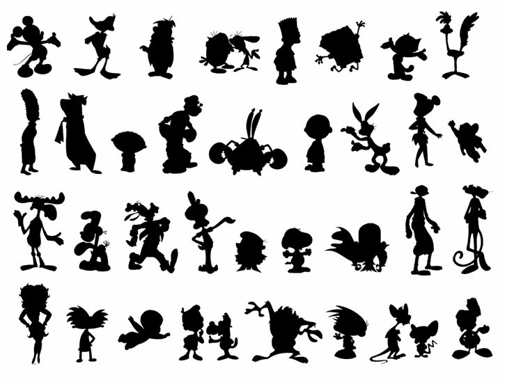 free Silhouettes font (all famous characters)