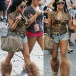 not that kind of boots with shortsBearpaw Boots, Kristin Treadwell, Fashion Don T, Shorts Kristin, Sheepskin Boots, Boots Heavens, Shoes Obsession, Style Fashion