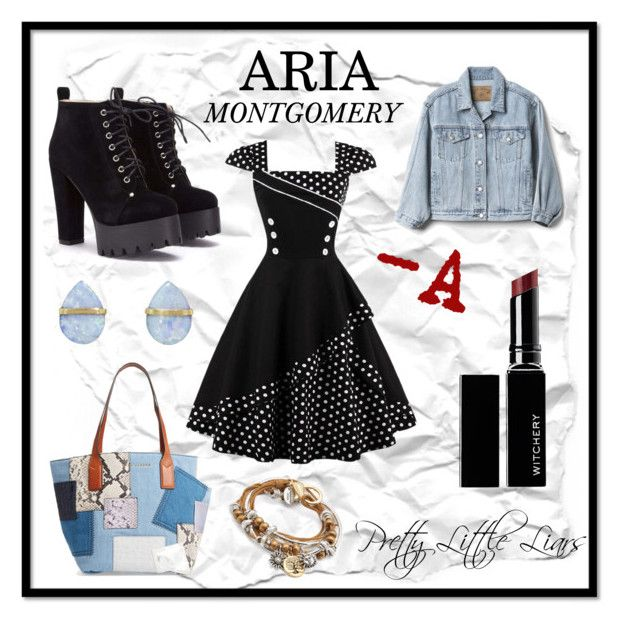 """""""Pretty Little Liars: Aria Montgomery"""" by cianne-hale on Polyvore featuring Gap, Marc Jacobs, Lizzy James, Melissa Joy Manning, Witchery, pll, ariamontgomery and tramp"""