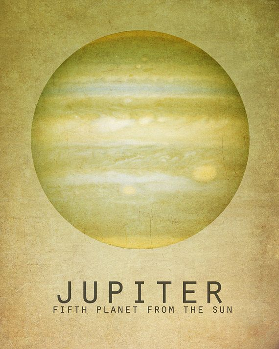 8x10 Jupiter Astronomy Print Solar System Space Art Planet Universe Milky Way Galaxy Stars Moon Astrophysics Geek Chic Nerd Science Posters