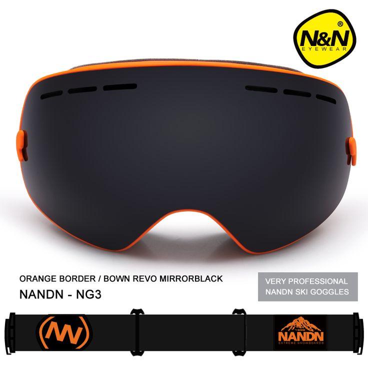 2016 New NANDN Skiing Goggles Big Spherical Men Women Snowboard Sports Ski Goggles Anti-fog Lens Professional Ski Glasses NG3