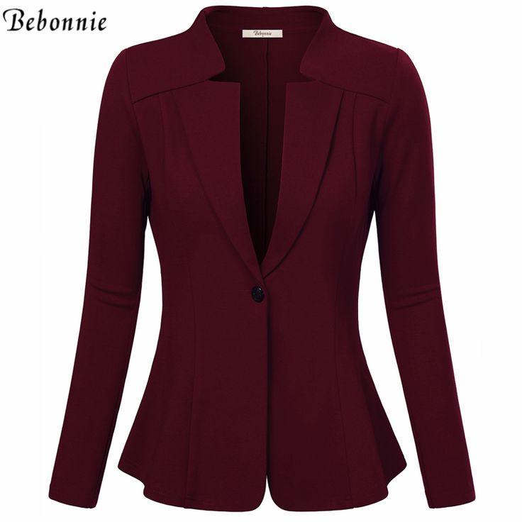 Women Blazers and Jackets Autumn Slim Bodycon Ladies Blazer Office Work Wear Business Jacket Top Red Black  Elegant Outwear