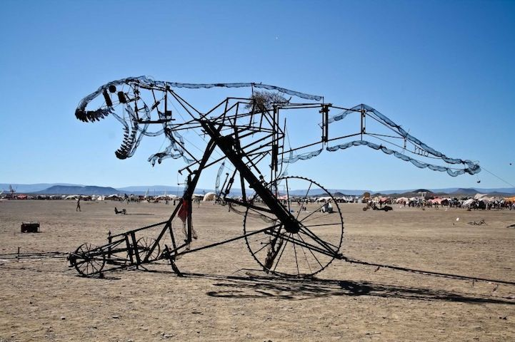 """""""Lizzie"""" by Fata Morgana Crew at AfrikaBurn. AfrikaBurn is an annual event held in the deserts of South Africa that invites artists to display their work and then eventually light it up in a blaze of glory, in true Burning Man fashion."""