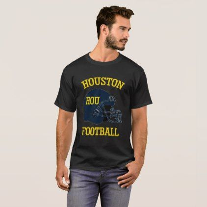 Houston Football T-Shirt for Men and Women - diy cyo customize create your own #personalize