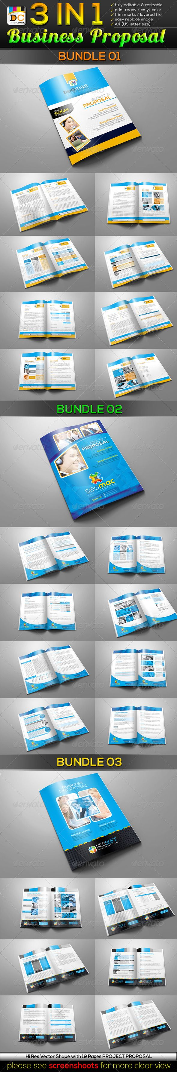 3 in 1 Business/Project Proposal Bundle
