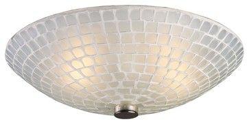 Elk Lighting-10139/2WHT-Fusion - Two Light Semi-Flush Mount beach-style-ceiling-lighting