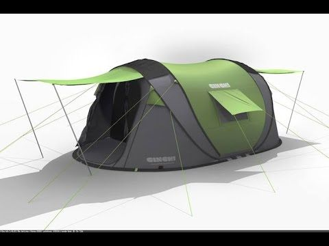 [ Meet Cinch! ] The ultimate pop up tent with solar power & LED - YouTube