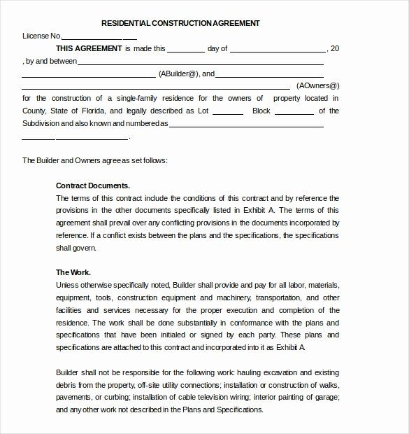 Residential Construction Contract Template Beautiful 17 Subcontractor Agreement Templates Word Pdf P Contract Template Construction Contract Contract Agreement