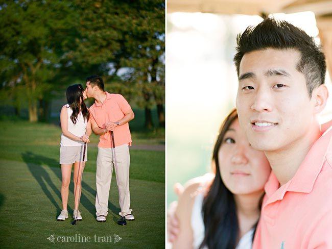 golf engagement photos | susan   jason