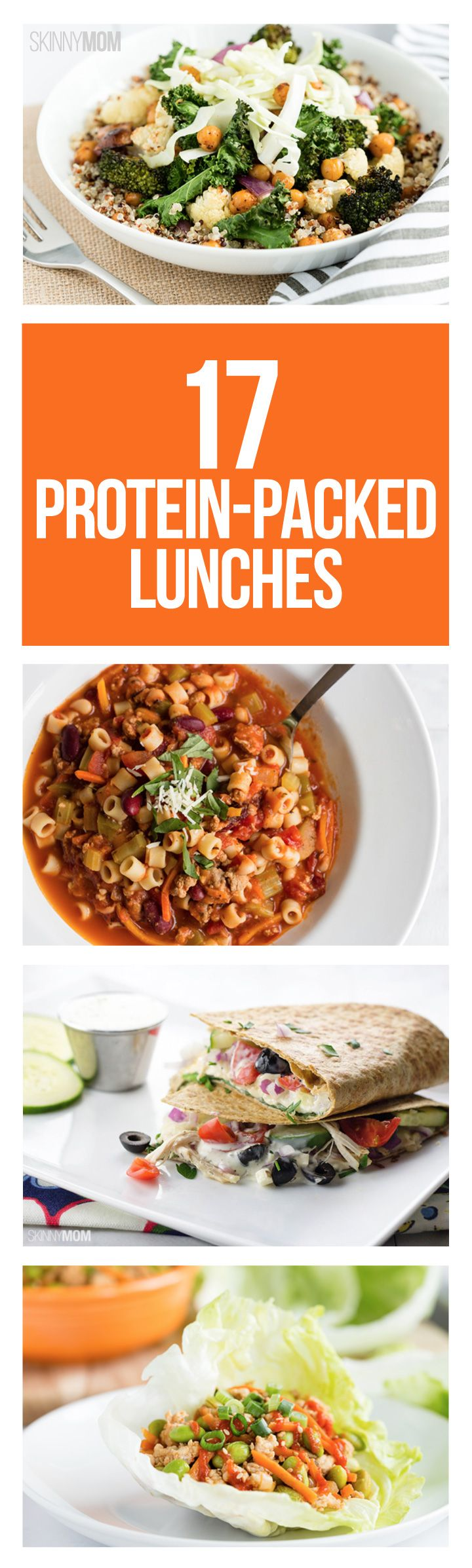 Healthy lunch ideas that won't leave you hungry.