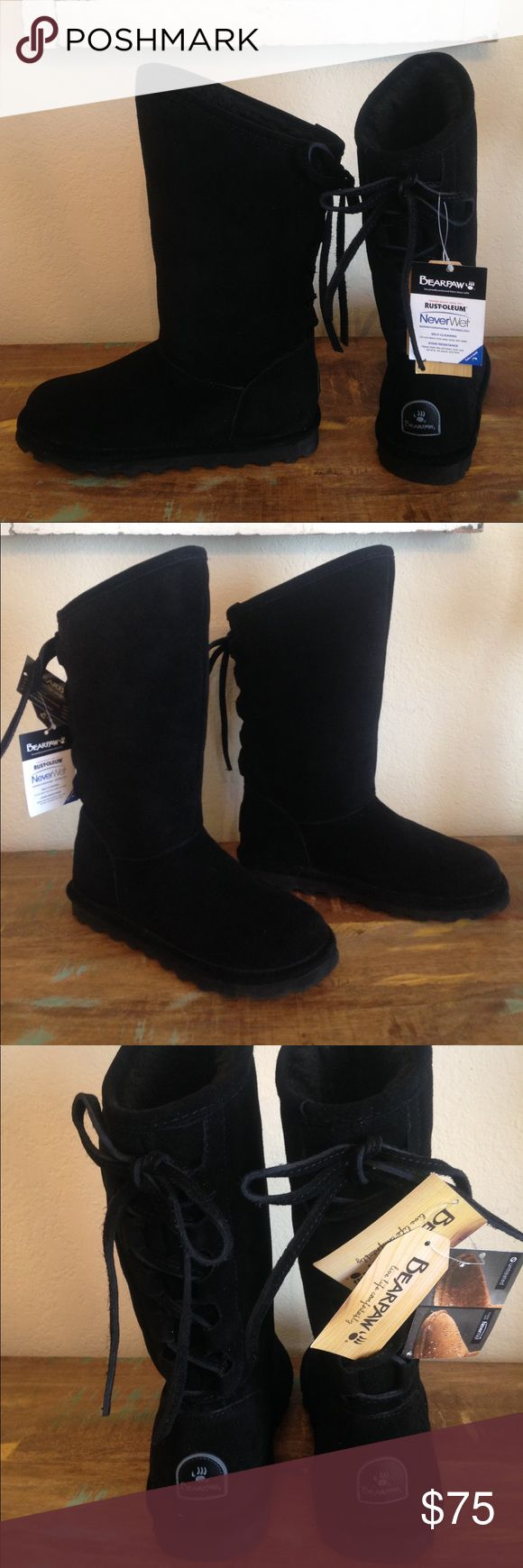 NEW wITH TAGS BLACK BEAR PAW BOOTS SZ 7 NEW WITH TAGS BearPaw Shoes Winter & Rain Boots