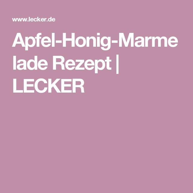 Apfel-Honig-Marmelade Rezept | LECKER