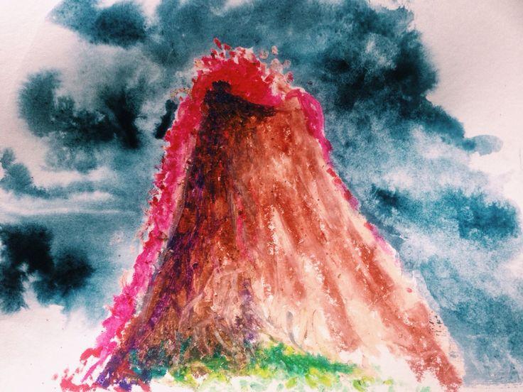 Возбуждение,  как извержение вулкана