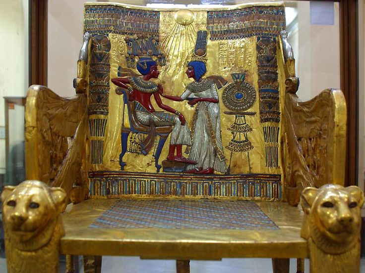 The Golden Throne Of Tutankhamun Egyptian Museum In Cairo Egypt Admin Mahmoud Yousef Find This Pin And More On Interior Design History