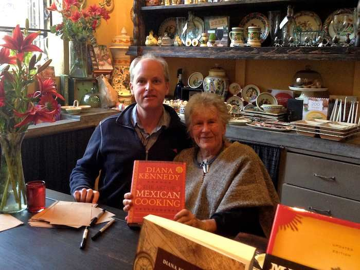 Diana Kennedy signing my new copy of The Art of Mexican Cooking, a cookbook worth owning if you love authentic Mexican food.