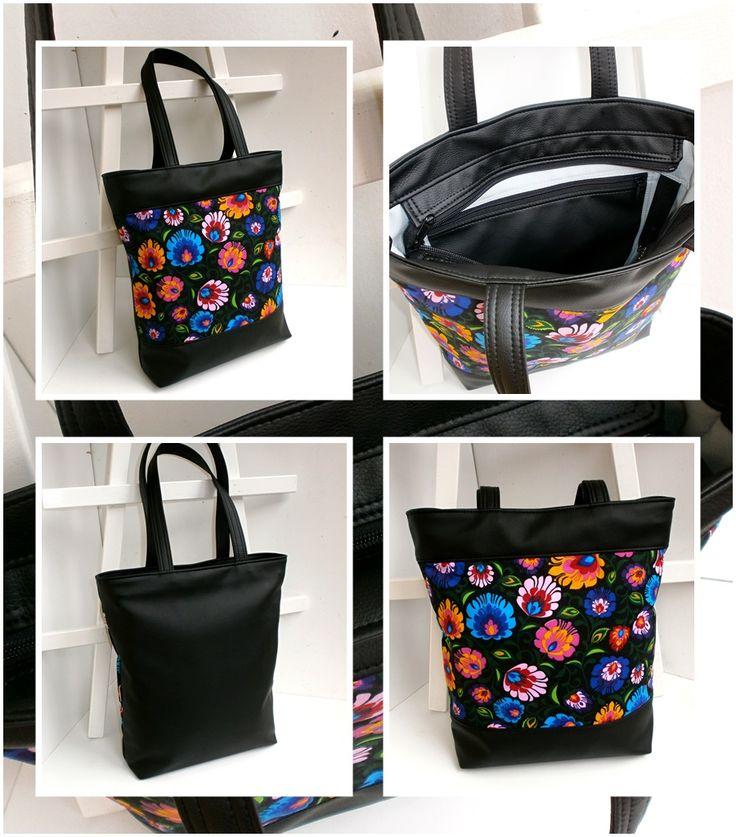 Ďalšia zo série shopper bag - tentokrát vo folklórnom kabátiku - Rozita Folk Black