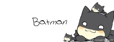 cute batman cartoon Facebook Cover