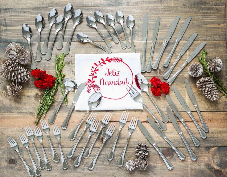 El Juego de Cubiertos Mónaco de Rena Ware se verá hermoso en su mesa en estas fiestas de fin de año