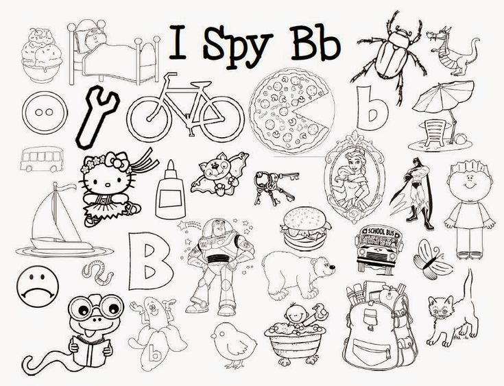 I Spy Letter Sounds Coloring Pages *Free printables* by Mom has Cooties