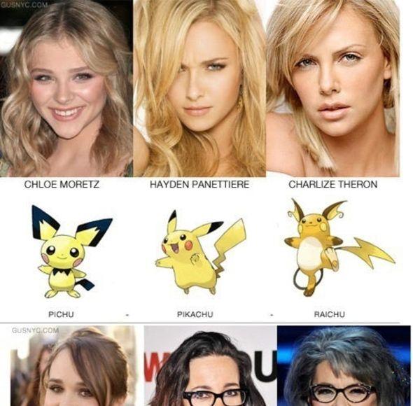Pokemon and celebrities