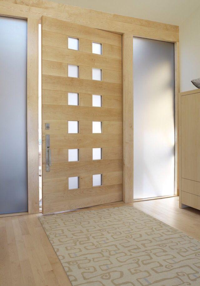 Maple floors+ maple door