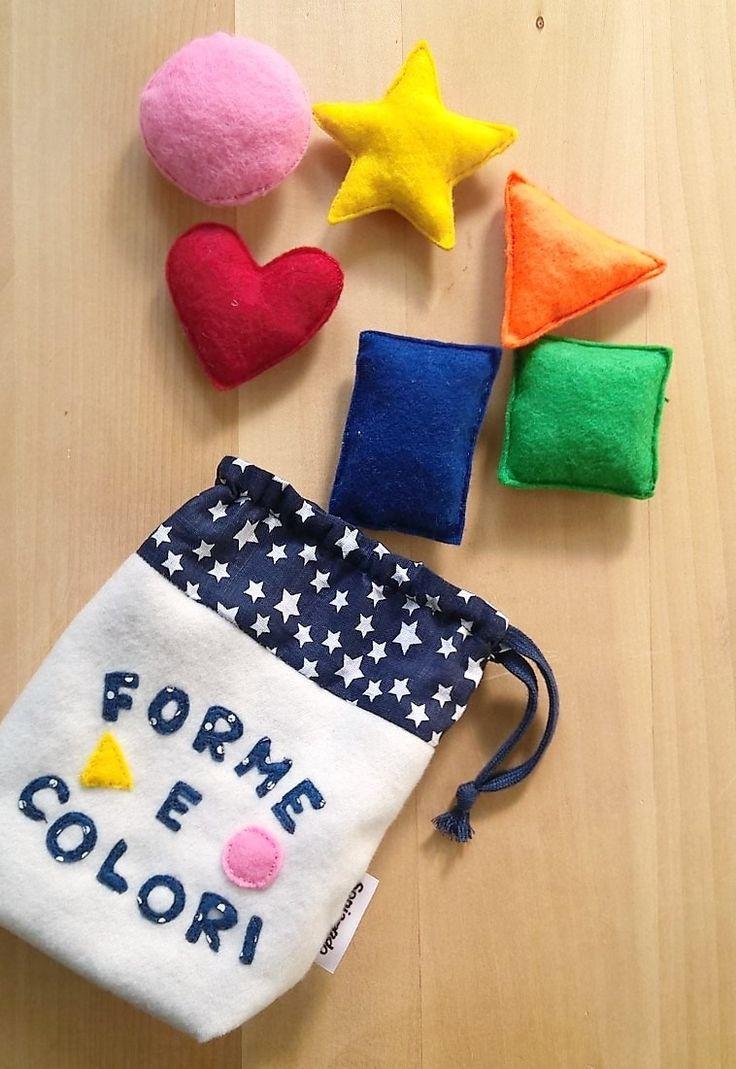 Gioco educativo forme e colori in feltro : Giochi, giocattoli di soniando