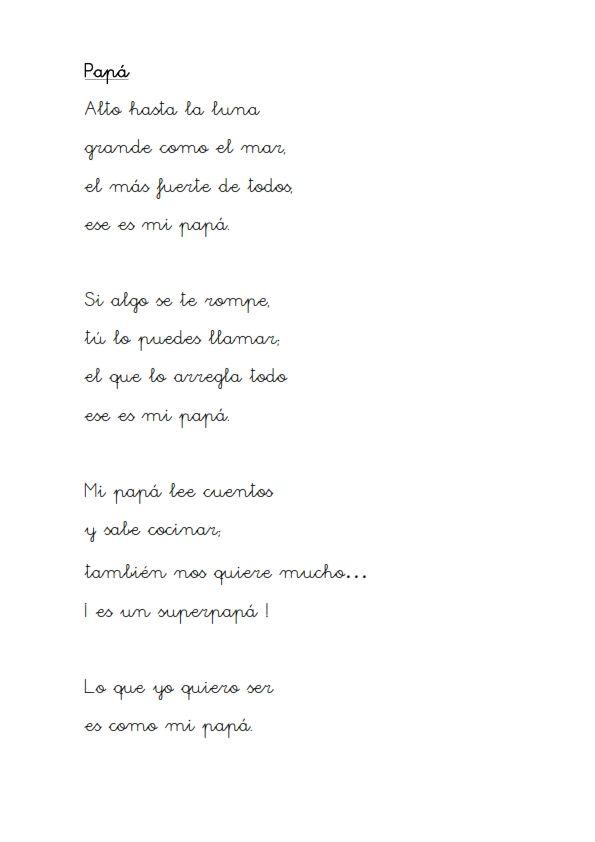 poesia del dia del padre para niños - Google Search