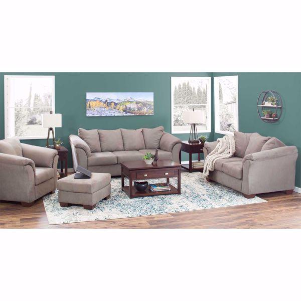 Darcy Cobblestone Loveseat Comfortable Furniture Love Seat