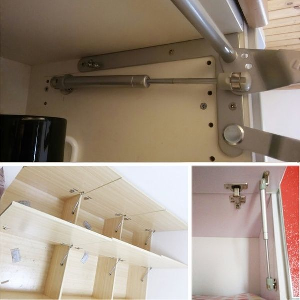 1×Kitchen Cabinet Door Stay Soft Close Hinge Hydraulic Gas Lift Strut Support