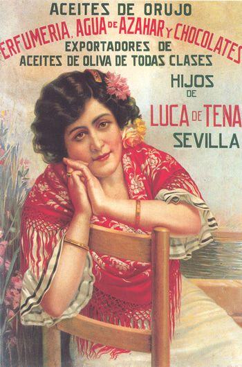 Alimentación. Aceite de orujo de oliva.Hijos de Luca de Tena @@@@......http://www.pinterest.com/marajosmuoz/publicidad-antigua/