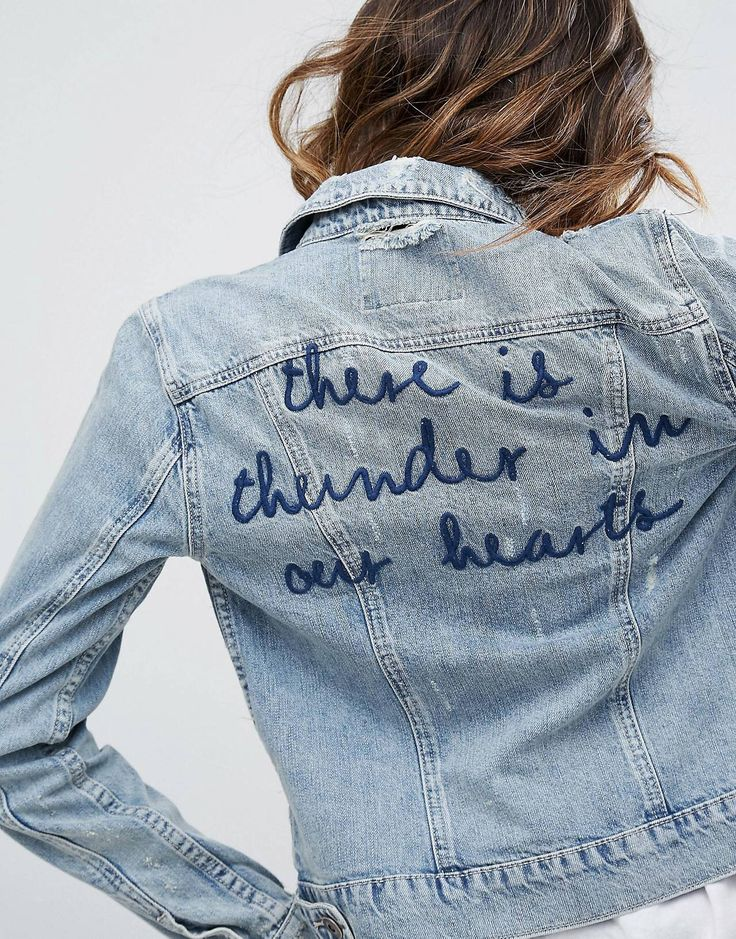 The best embroidered denim jacket ideas on pinterest