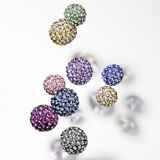 Swarovski Innovations Spring/Summer 2015 - Ceralun Balls available in 4mm, 6mm, 8mm & 10mm www.ehashley.com