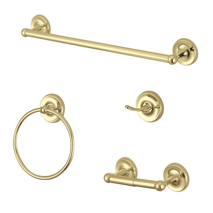 Kingston Brass BAK312478PB Victorian 4-Piece Bathroom Hardware, Polished Brass - Price: $223.80 & FREE Shipping over $99