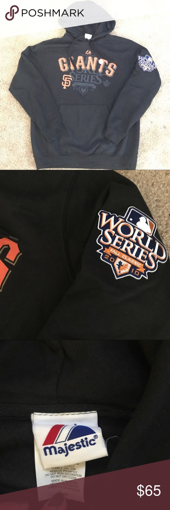 SF Giants World Series Champion 2010 Hoodie San Francisco Giants World Series Champion 2010 Hoodie. Once used and in mint condition with official gold foil seal still on the Hoodie. Majestic Tops Sweatshirts & Hoodies