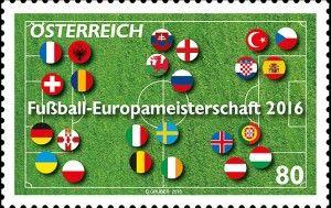 EURO 2016 Stamps Austria