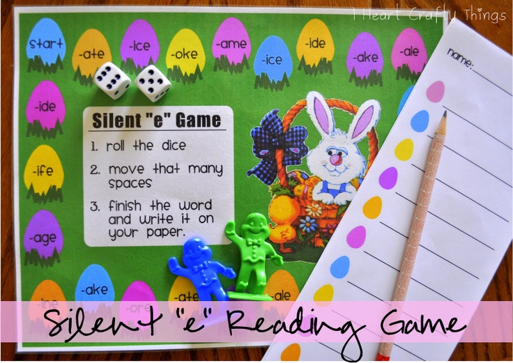 """I HEART CRAFTY THINGS: Silent """"e"""" Reading Game"""