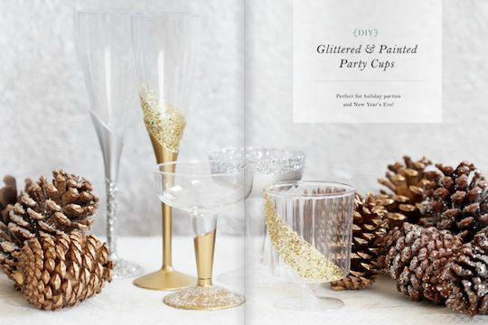 Hey, Lady Grey: DIY - Glittered & Painted Plastic Party Cups