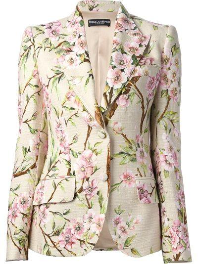 Dolce and Gabbana Floral Print Blazer
