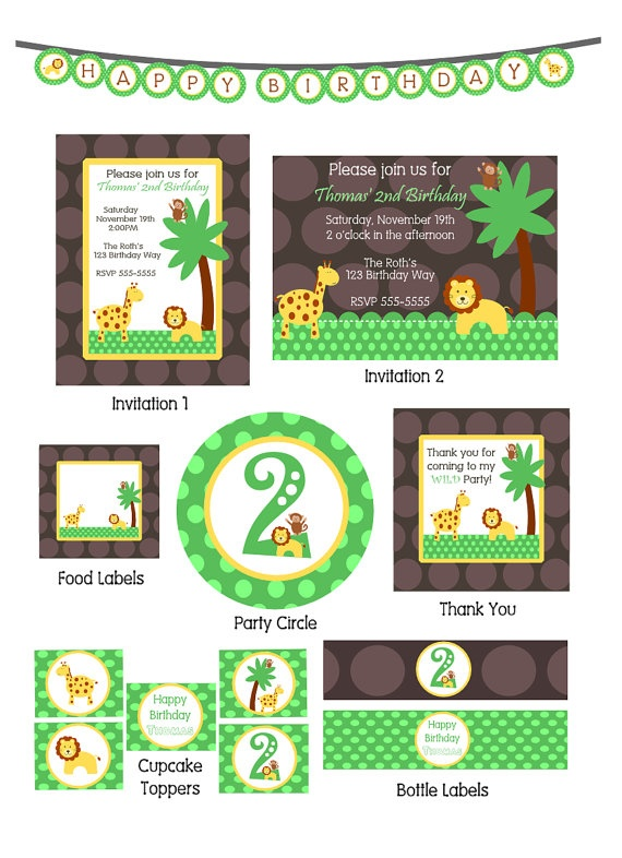 52 best Jungle Theme 1st Birthday Party images on Pinterest