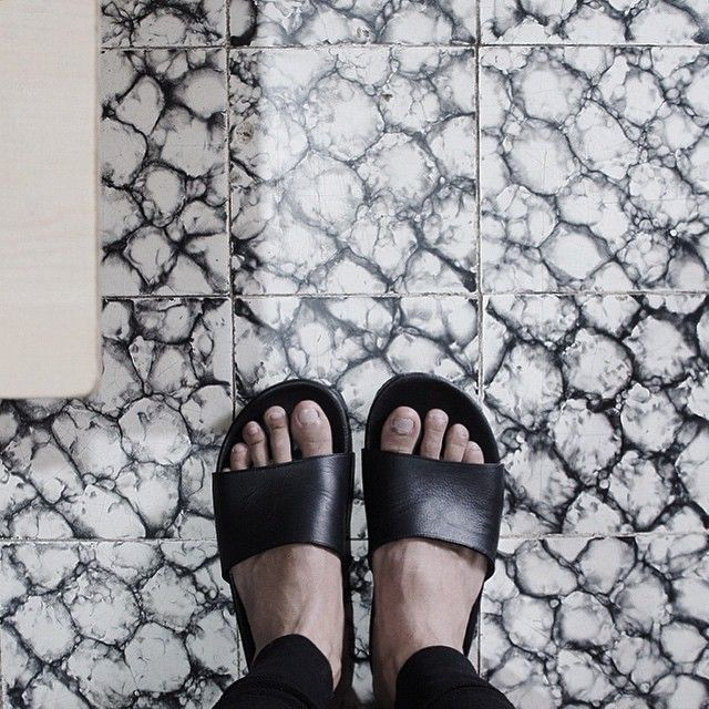 A bit cloudy out there, a cup of tea would be lovely.  On frame: Vosca  #hijacksandals #noireproject