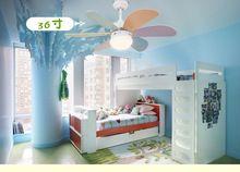 Детский потолочные вентиляторы LED простой мода вентилятор свет спальня столовая гостиная потолочный вентилятор огни с дистанционным управлением