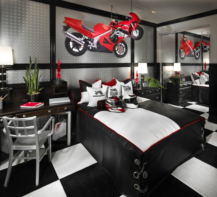 Motorcycle Decorating In Childrens Rooms
