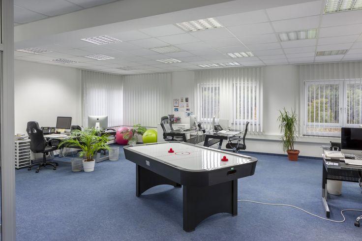 Großzügige Büroräume mit viel Platz für Kreativität - und einem Air-Hockey-Tisch