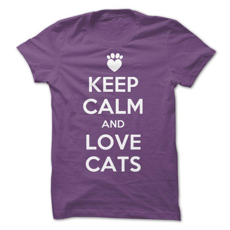 Keep Calm - Keep calm and love cats (Pet Tshirts)
