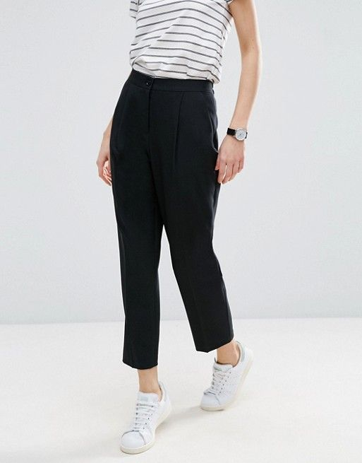 ASOS elasticated clean tapered trouser